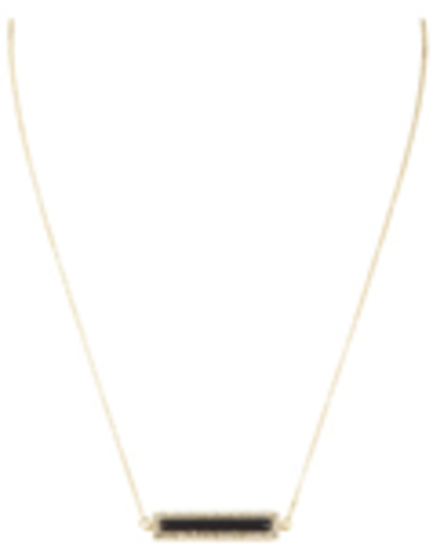 House of Harlow 1960 Illuminating Rectangle Necklace in Black