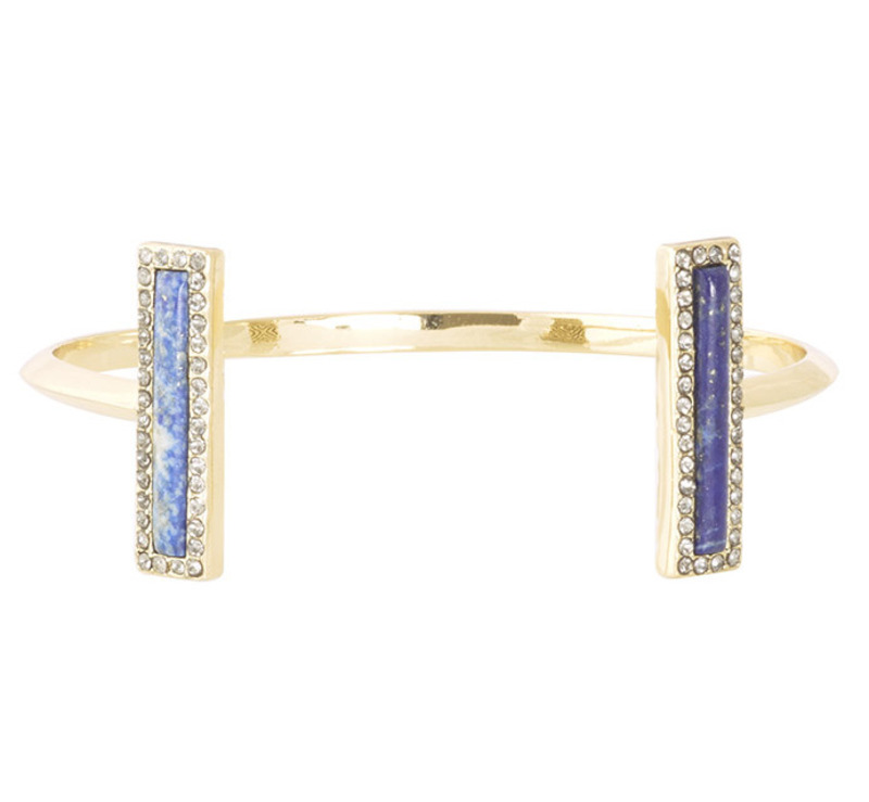 House of Harlow 1960 Illuminating Rectangle Cuff in Lapis