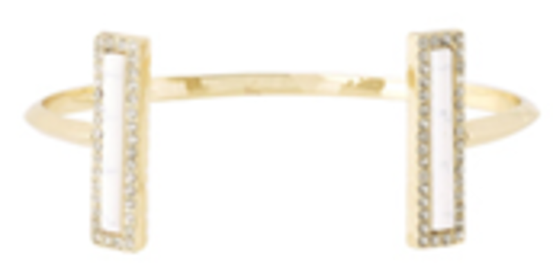 House of Harlow 1960 Illuminating Rectangle Cuff in White