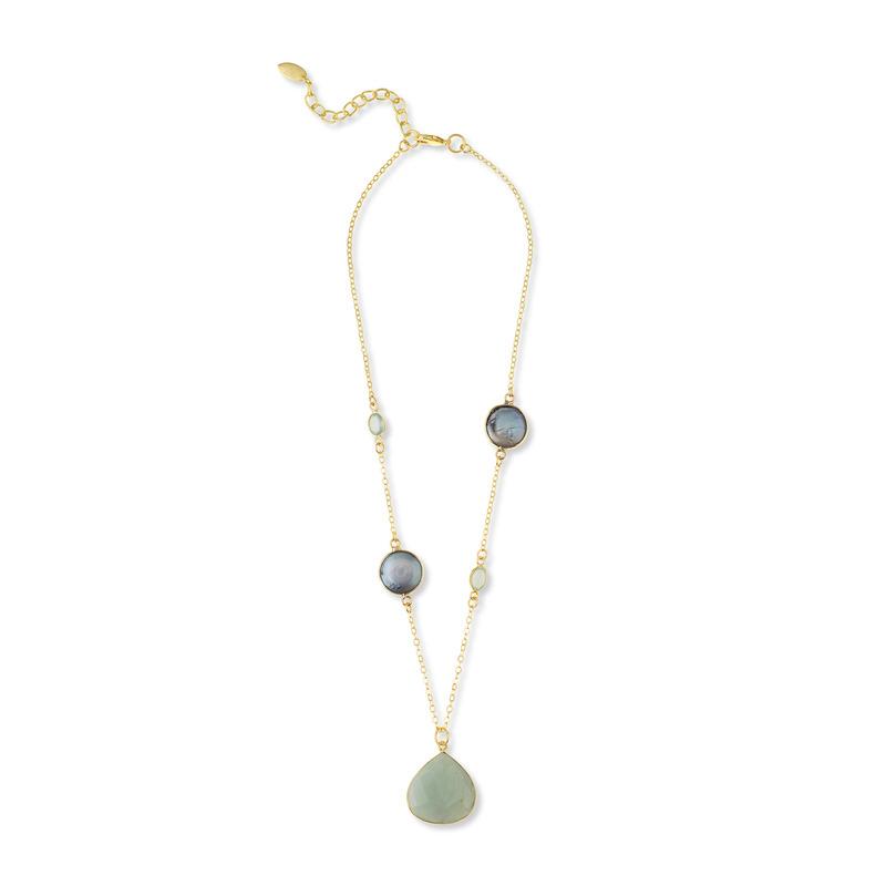 Ashiana London Three Stone Pendant Necklace