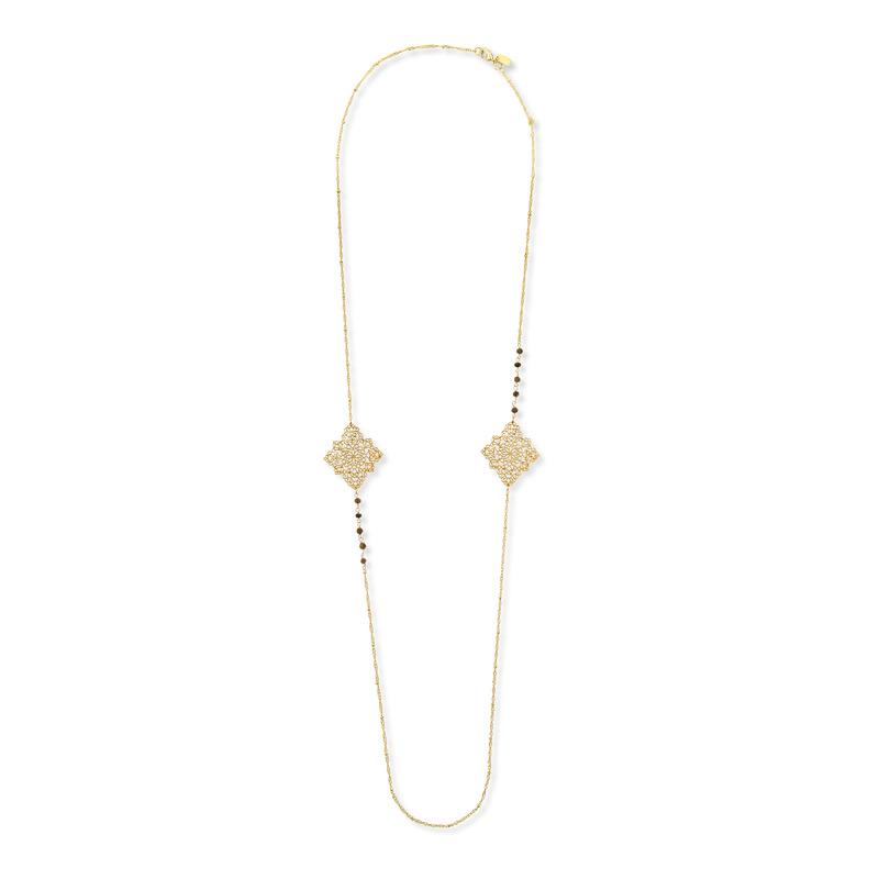 Ashiana London Diamond Charm Long  Necklace