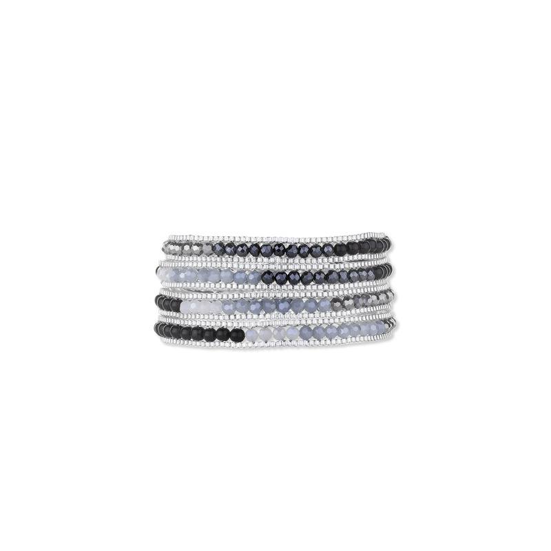 Nakamol Chain Wrap Bracelet in Black & White