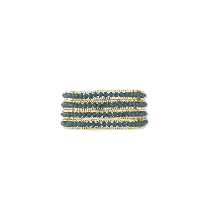 Nakamol Chain Wrap Bracelet in Teal