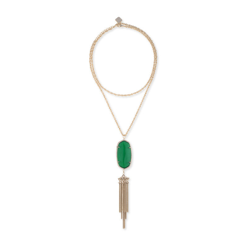 Kendra Scott Rayne Necklace in Green