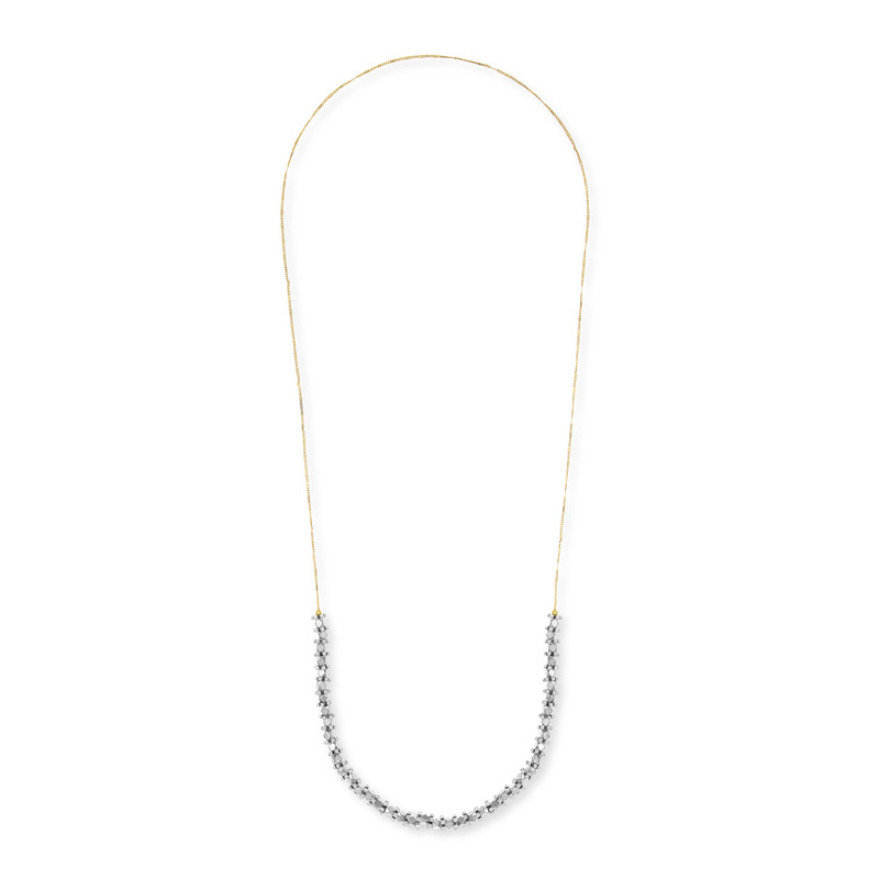 Vanessa Mooney Diamant Necklace in Silver