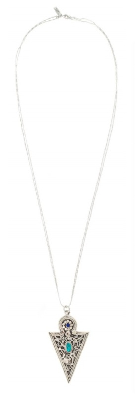 Vanessa Mooney The Clair Necklace in Silver