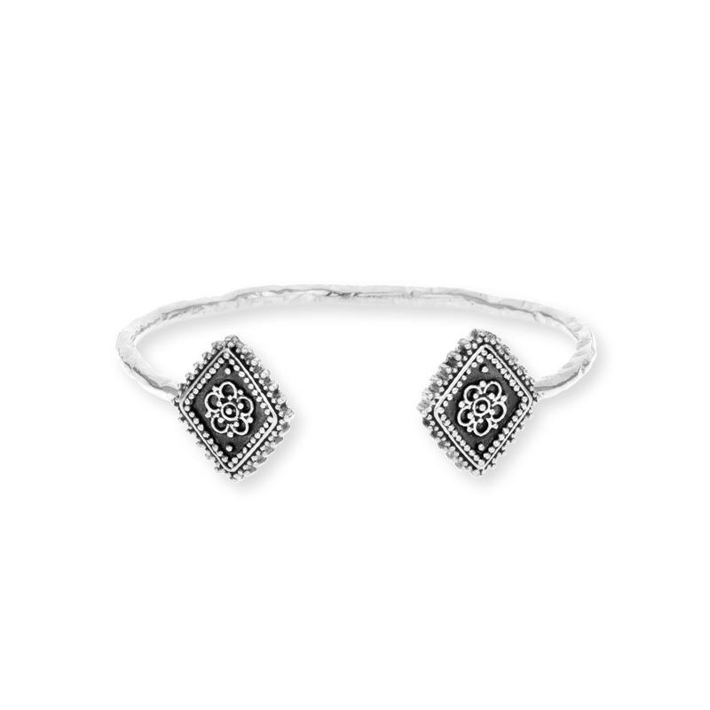 Vanessa Mooney Diamond Lace Cuff in Silver