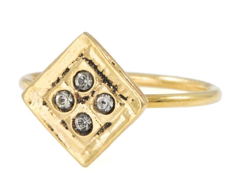 Vanessa Mooney The Believer Ring in Gold
