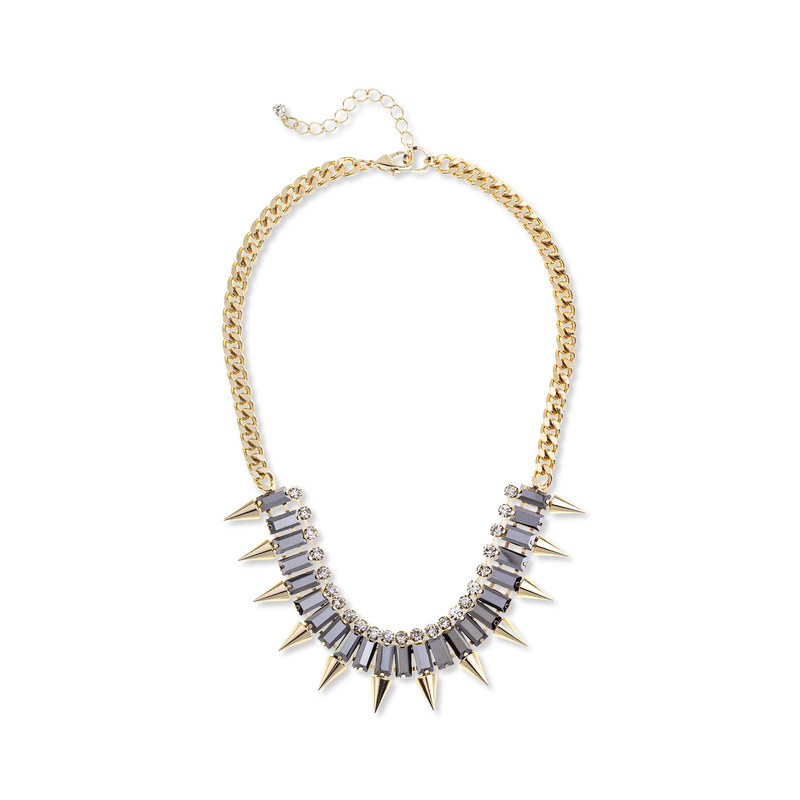 SLATE Spiked Out Necklace in Gold