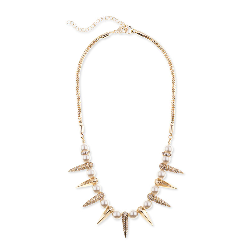 SLATE Spiked Pearls Necklace