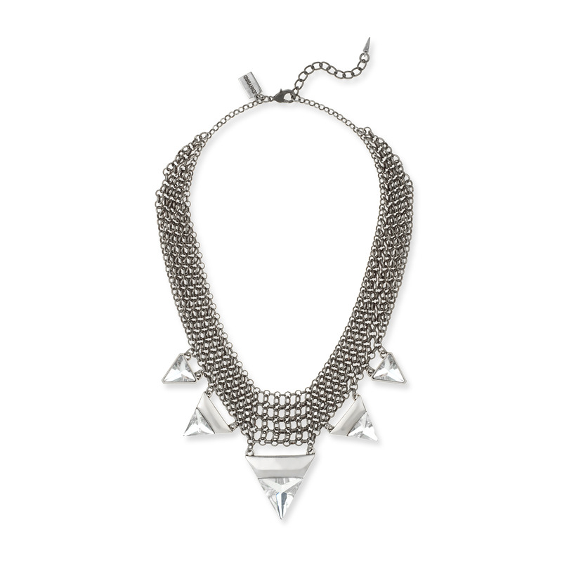 Jenny Bird Illumina Bib Necklace in Silver