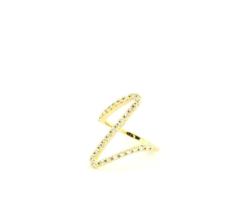 Wanderlust + Co Ziggy Gold Ring