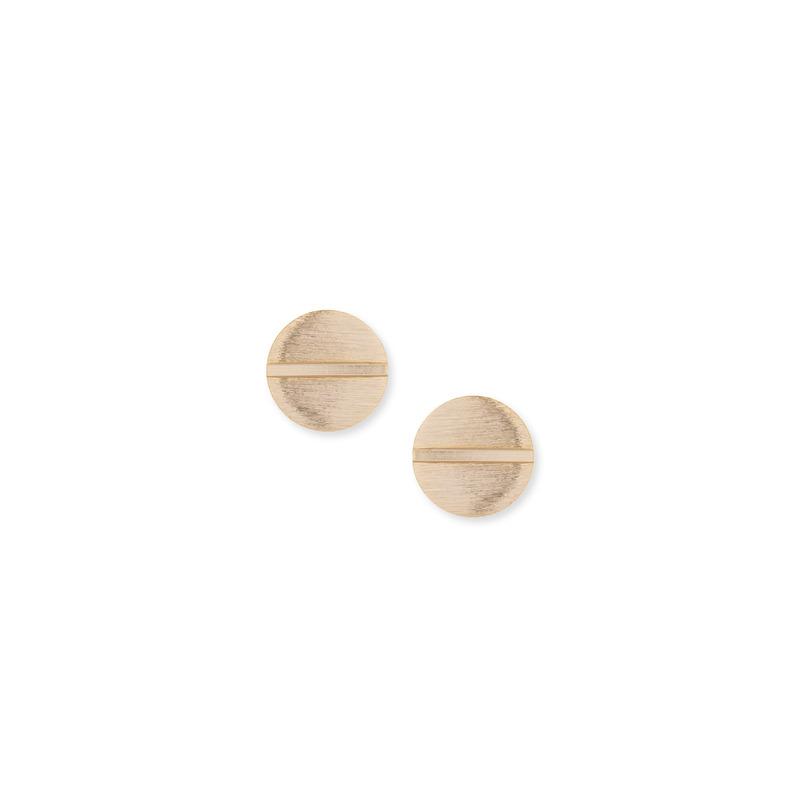 Wanderlust + Co Screw Stud Earrings in Gold