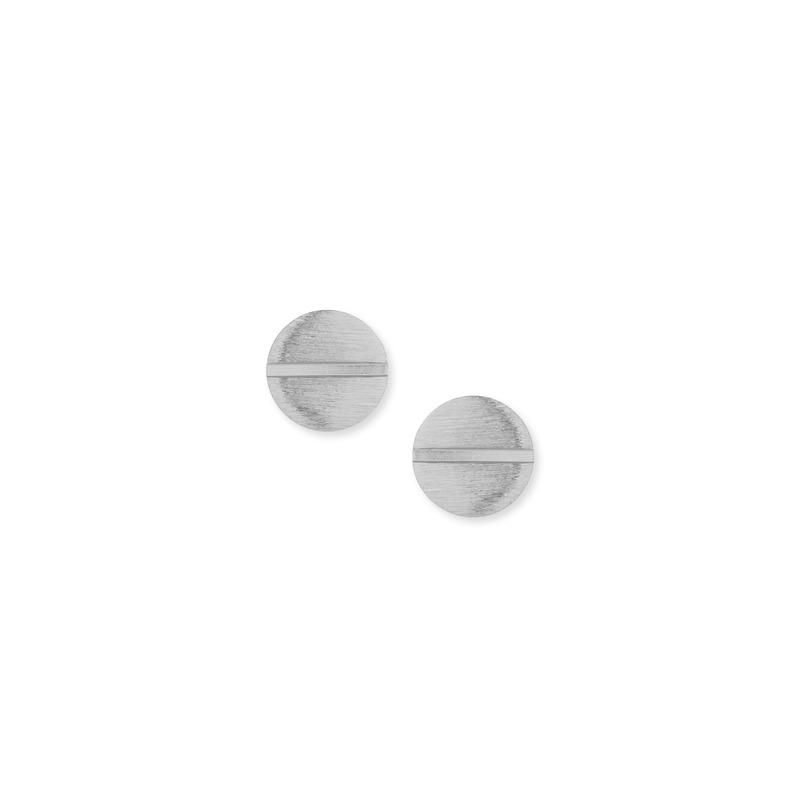 Wanderlust + Co Screw Stud Earrings in Silver