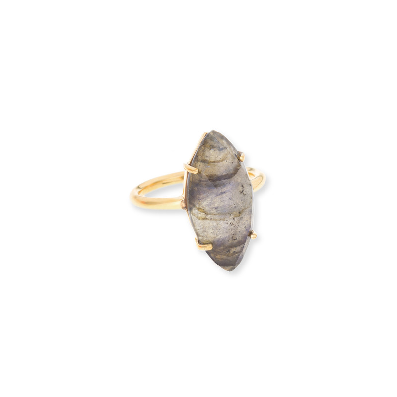Margaret Elizabeth Marquis Ring in Labradorite