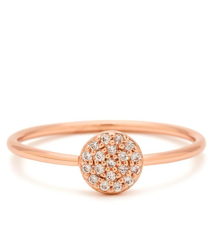 Gorjana Shimmer Disc Ring in Rose Gold