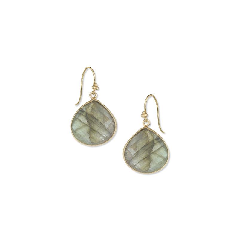 Charlene K Labradorite Teardrop Gemstone Earrings