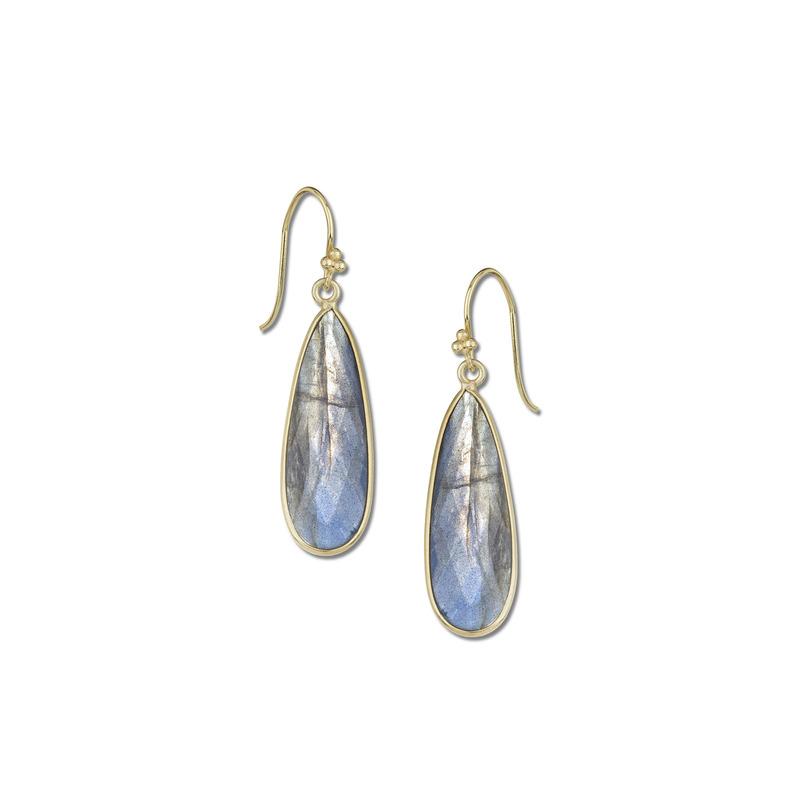 Charlene K Labradorite Long Teardrop Gemstone Earrings