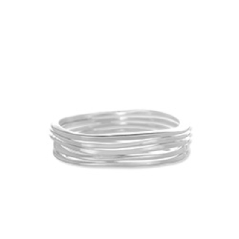 Jules Smith Surf Bangles in Silver