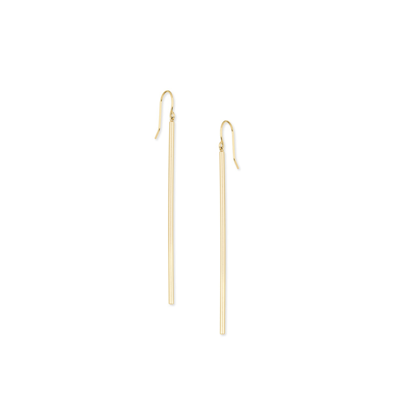 Gorjana Bali Tube Drop Earrings