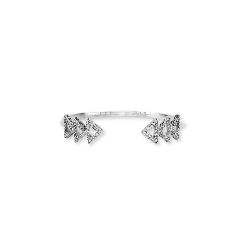 House of Harlow 1960 Tessellation Cuff in Silver