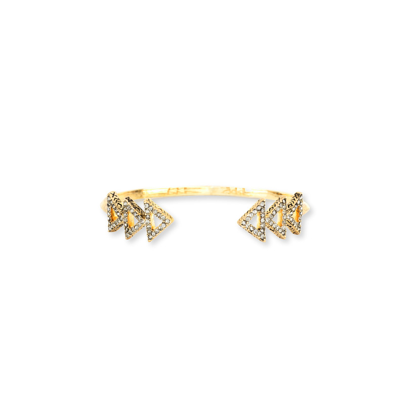 House of Harlow 1960 Tessellation Cuff in Gold