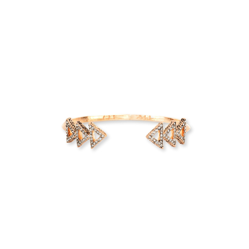 House of Harlow 1960 Tessellation Cuff in Rose Gold