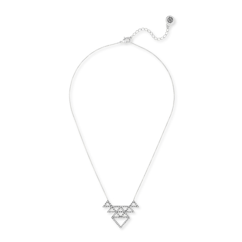 House of Harlow 1960 Tessellation Necklace in Silver