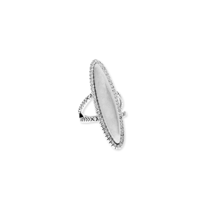 House of Harlow 1960 Geodesic Cocktail Ring in Silver