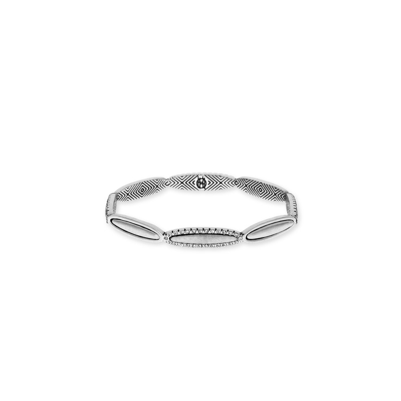 House of Harlow 1960 Geodesic Bangle in Silver