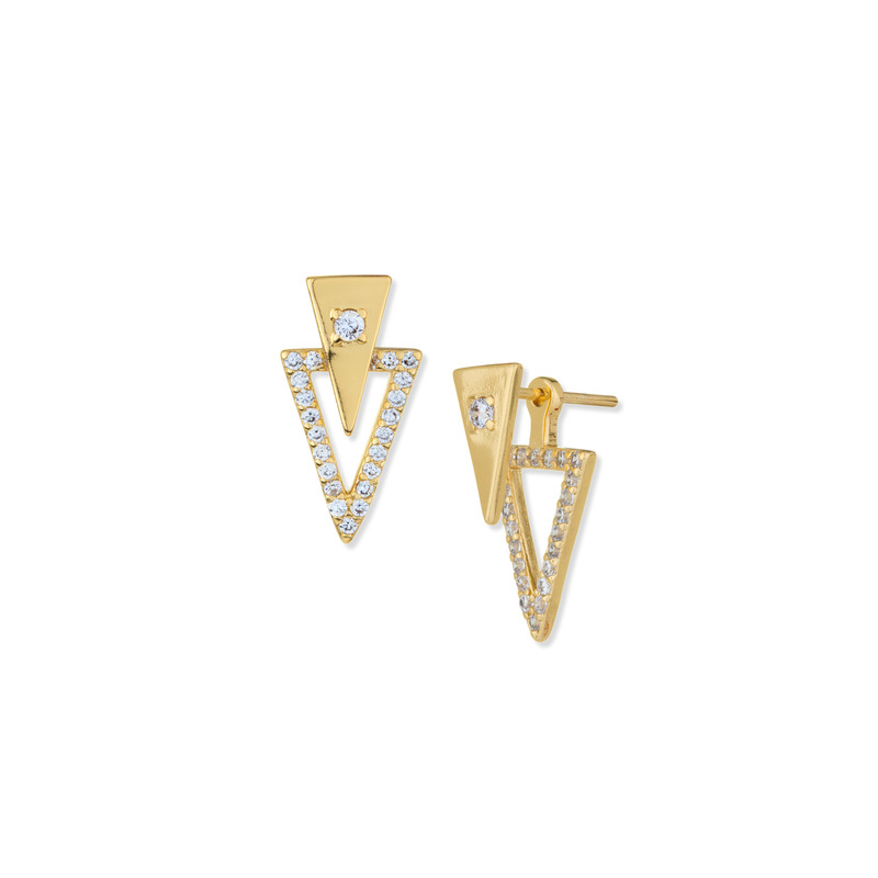 Gorjana Shimmer Triangle Double Studs