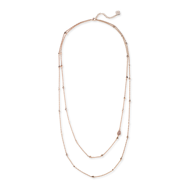 Kendra Scott Christen Necklace in Rose Gold Drusy