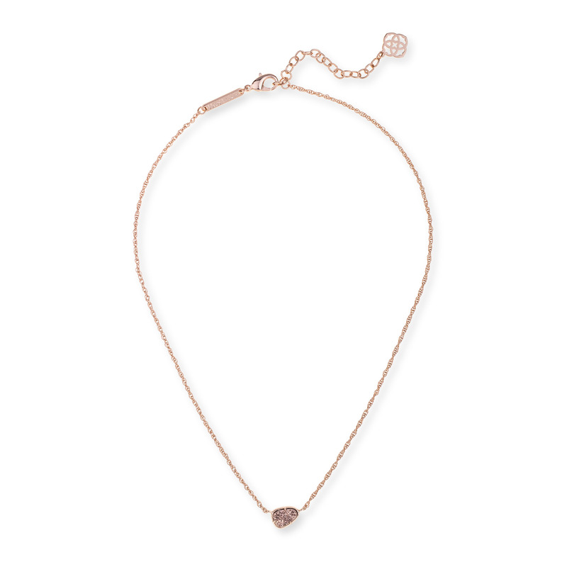 Kendra Scott Hayden Necklace in Rose Gold Drusy