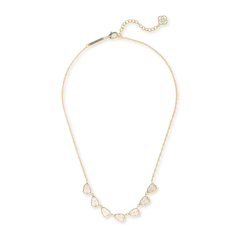 Kendra Scott Connie Necklace in Gold Iridescent Drusy