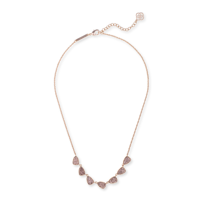 Kendra Scott Connie Necklace in Rose Gold Drusy