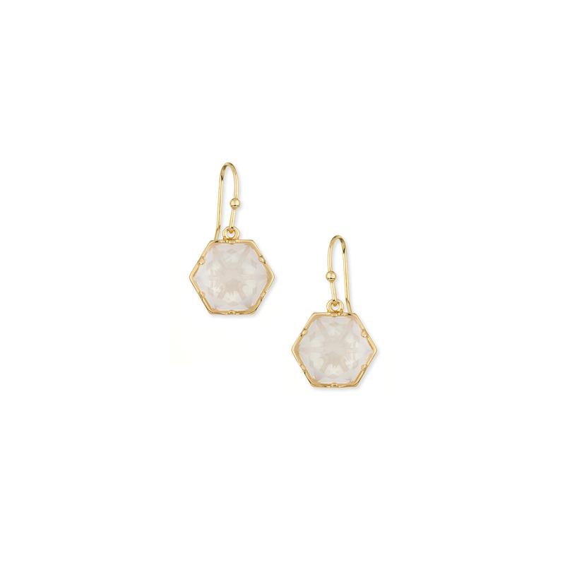 Trina Turk Hexagon Stone Drop in Opal