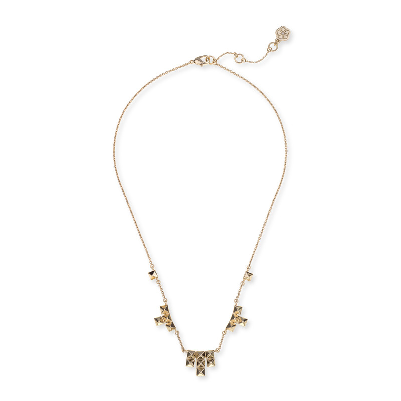 Trina Turk Pyramid Delicate Frontal Necklace