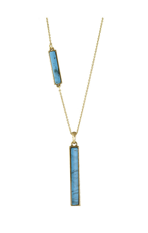 House of Harlow 1960 Long Rains Pendant Necklace in Turquoise