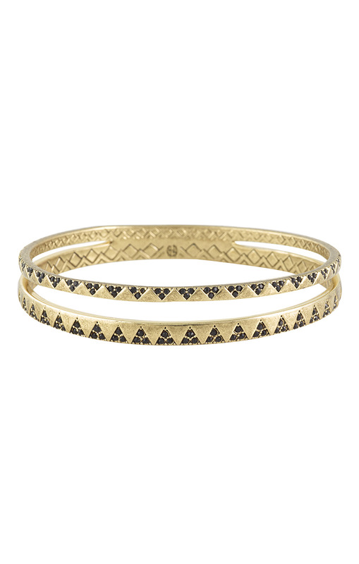 House of Harlow 1960 Outland Pave Bangle in Black