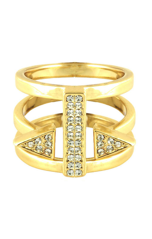 CC Skye Punk Heiress Ring in Gold