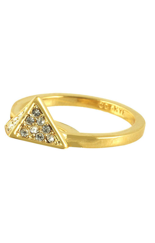 CC Skye Precious Pyramid Ring in Gold