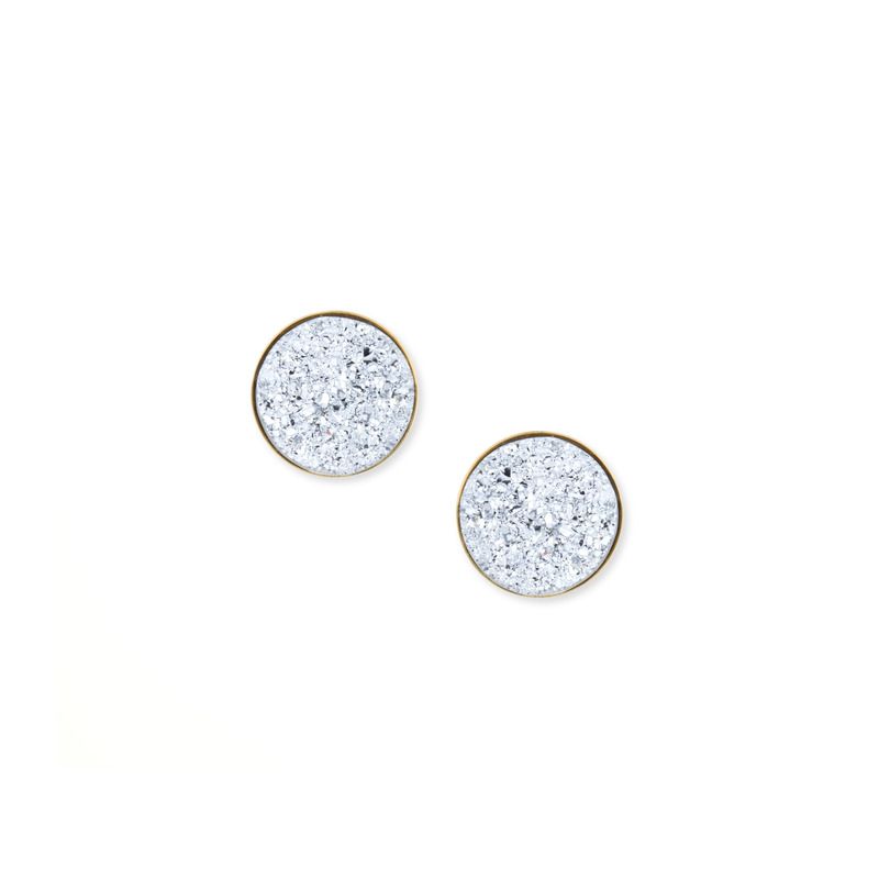 Moon & Lola Chrysler Round Studs in Silver