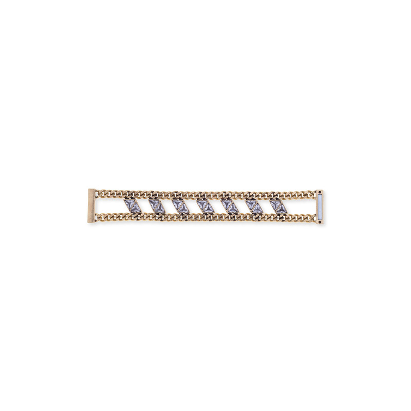 SLATE Crystal Chain Cuff