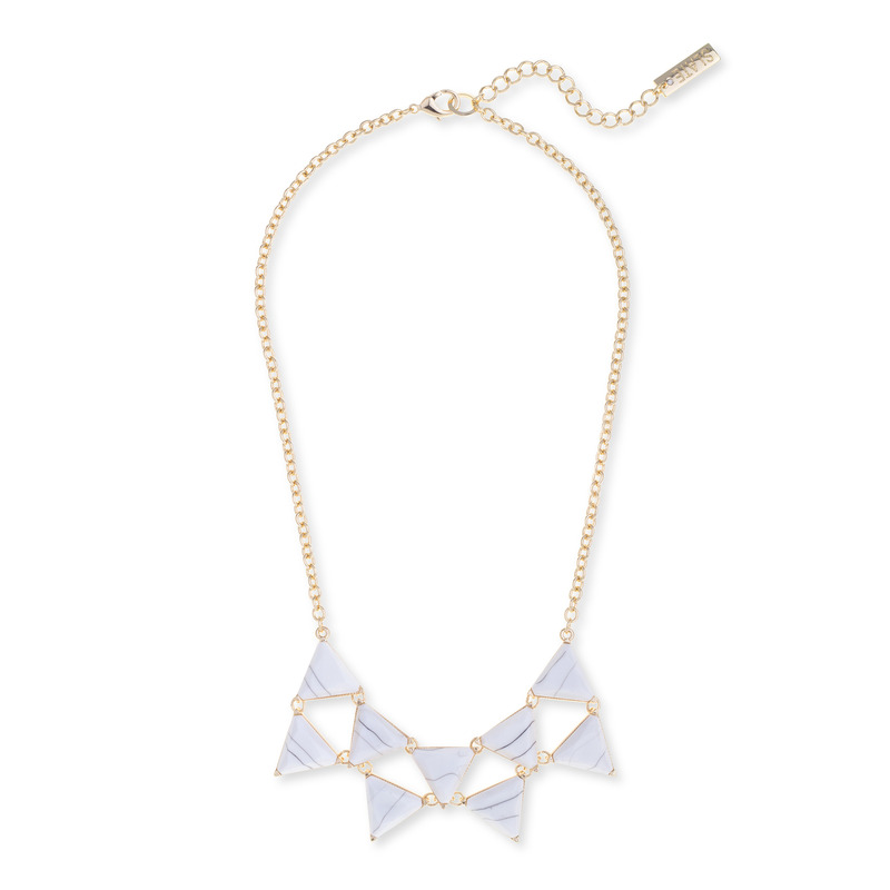 SLATE Marble Triangle Necklace