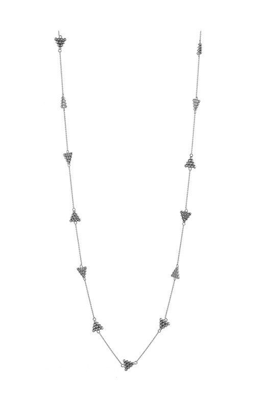 House of Harlow 1960 Cerro Torre Station Necklace in Silver