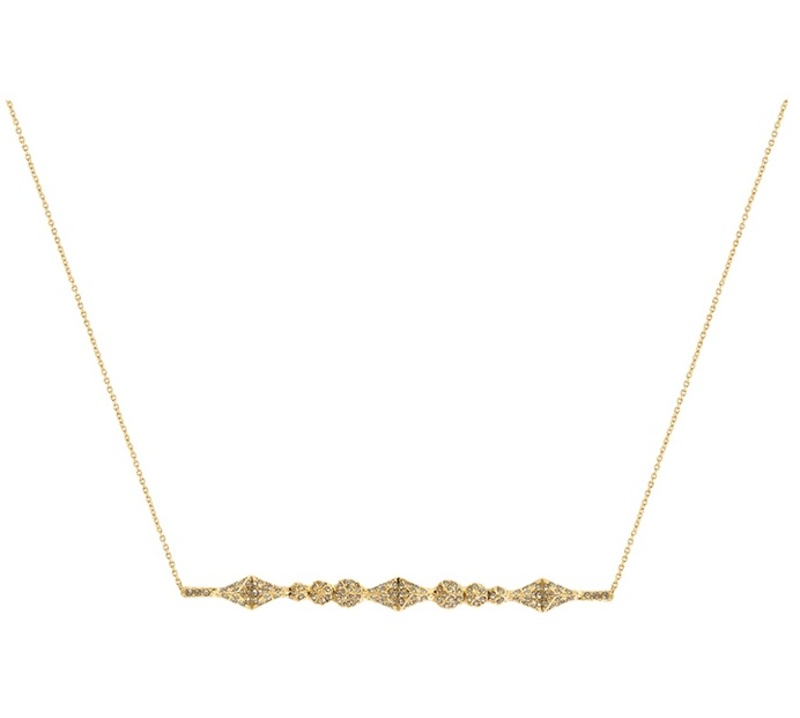 House of Harlow 1960 Sama Horizontal Pendant Necklace in Gold