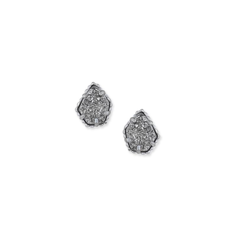 Kendra Scott Tessa Silver Stud Earrings in Platinum Drusy