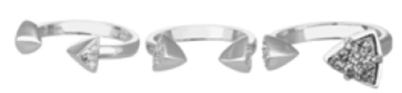 Kendra Scott Brennan Ring Set in Silver Platinum Drusy