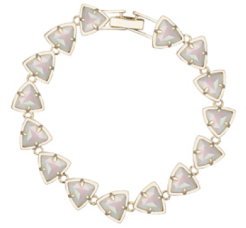 Kendra Scott Ripley Bracelet in Iridescent White Opaque Glass