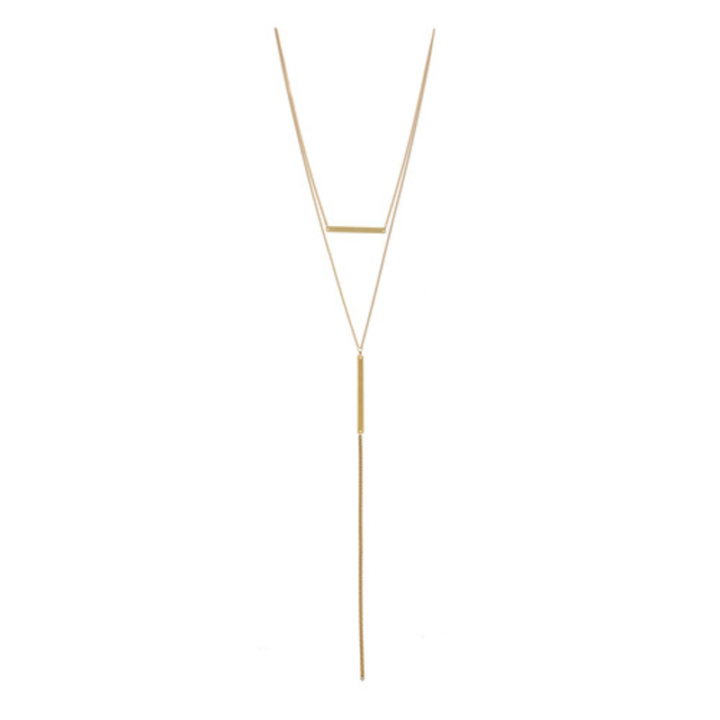 a.v. max 2 in 1 Bar Necklace